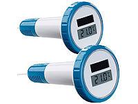 FreeTec 2er-Set digitale Solar-Teich & Poolthermometer, LCD-Anzeige, IPX7; Thermo-/Hygrometer-Datenlogger Thermo-/Hygrometer-Datenlogger Thermo-/Hygrometer-Datenlogger