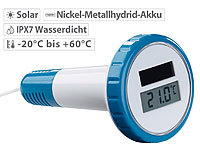 FreeTec Digitales Solar-Teich-& Poolthermometer, LCD-Anzeige, wasserdicht IPX7