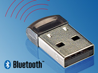FreeTec Ultra-Mini Bluetooth-USB-Adapter, Klasse II, EDR+CSR, 10m