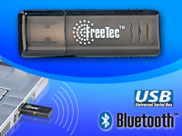 FreeTec Bluetooth Mini-USB-Adapter Klasse II 20m